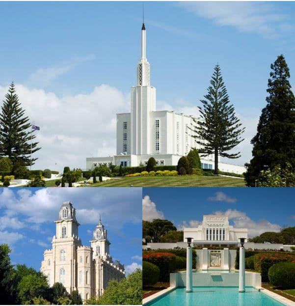 Templos sin estatua del Ángel Moroni